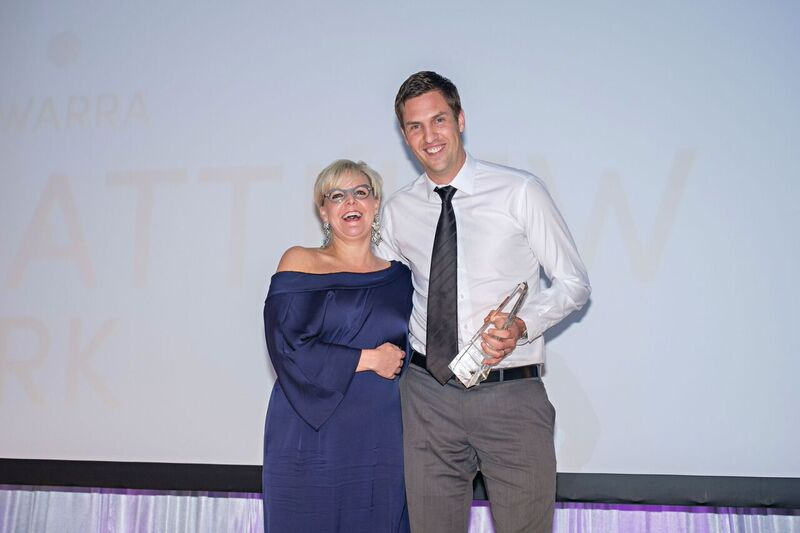 Matt Clark receives the Franchise of the Year award for the third year running