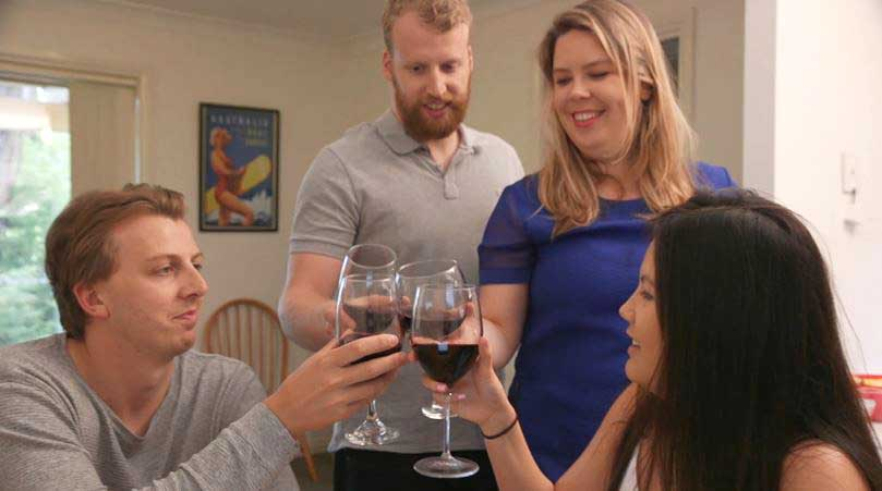 How soon can I buy a house by sharing - flatmates with wine