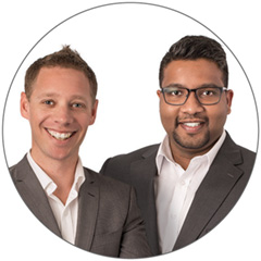 Matthew Fernihough and Nirmal Edirisinghe from RAMS Greensborough