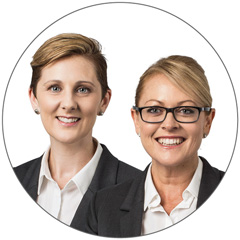Jacki Doldissen and Rebecca Hudson from RAMS Haberfield